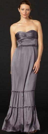 BR Monogram strapless crinkle dress