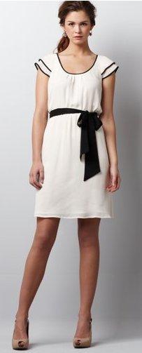 Tipped Flutter Sleeve Dress
