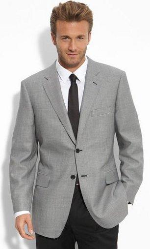 John W Nordstrom Micro Check Wool & Silk Sportcoat