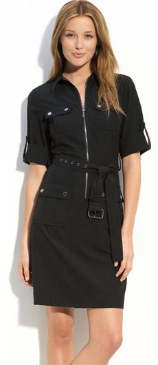 MICHAEL Michael Kors Belted Shirtdress