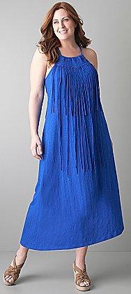Macrame halter dress by DKNY JEANS