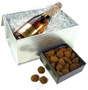champagne split gift box