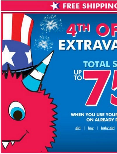 children's place july 4th extravaganza