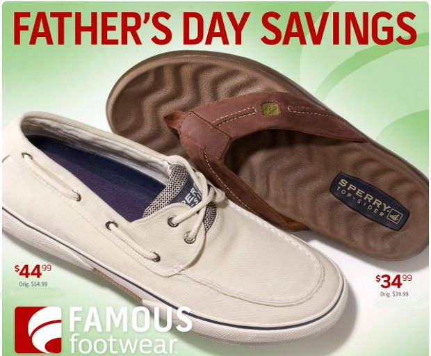 famous footwear father's day sale