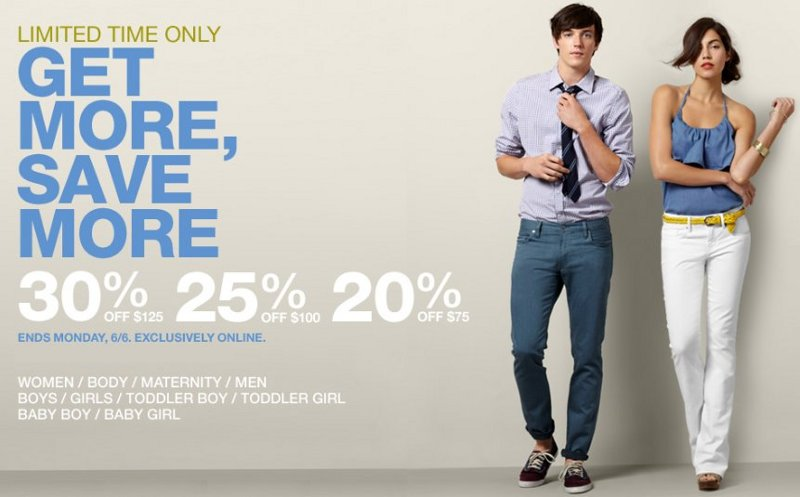 gap online coupons
