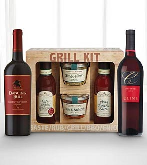 grilling and wine set