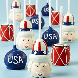 july 4th brownie pops