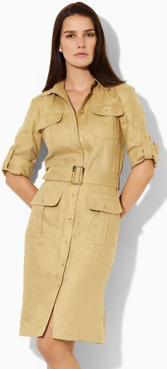 lauren by ralph lauren linen shirtdress