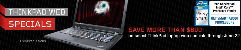 lenovo thinkpad web special