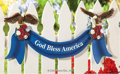 Patriotic American Eagle Fence Decorations