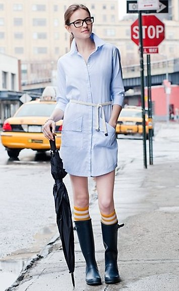 prep chambray dress