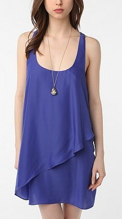silence noise layered tank dress