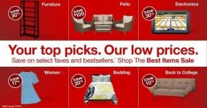 target best items sale