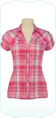 Crinkle Plaid Button Up