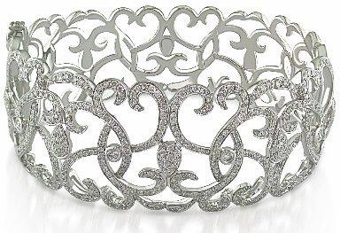 Diamond Bracelet In 14K White Gold