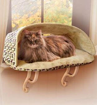 K&H kitty sill hooded deluxe cat window perch