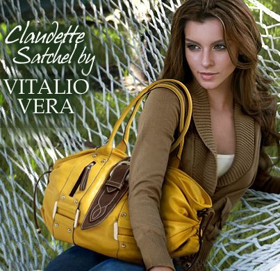 Sunset Yellow Extra Large Vitalio Claudette Satchel Purse