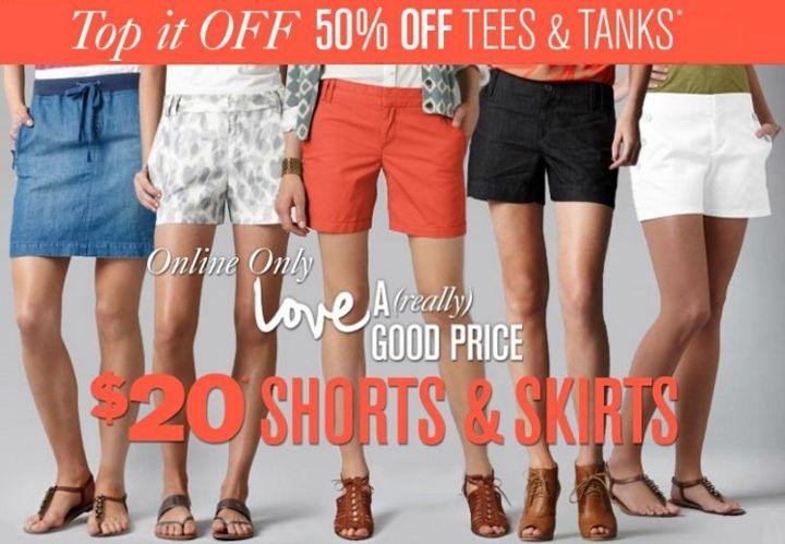 ann taylor loft shorts & skirts