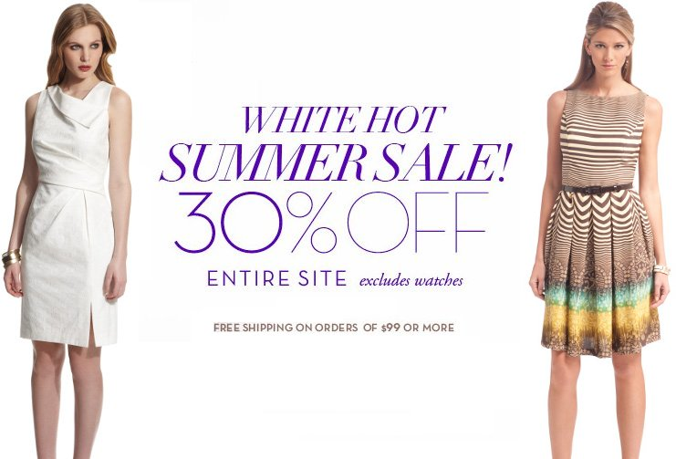 anne klein white hot summer sale