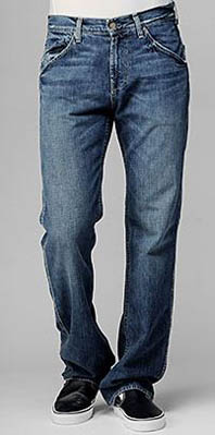 austin relaxed straight leg jeans in camp bullis