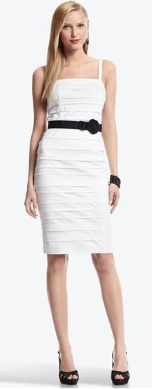 banded tank dress