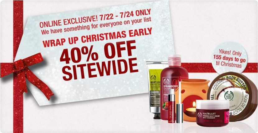 body shop christmas in july sale