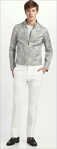 calvin klein collection rub-dye motocross jacket