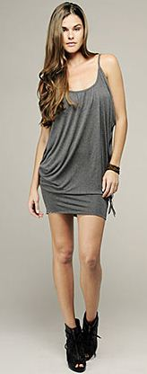 drape tunic tank dress