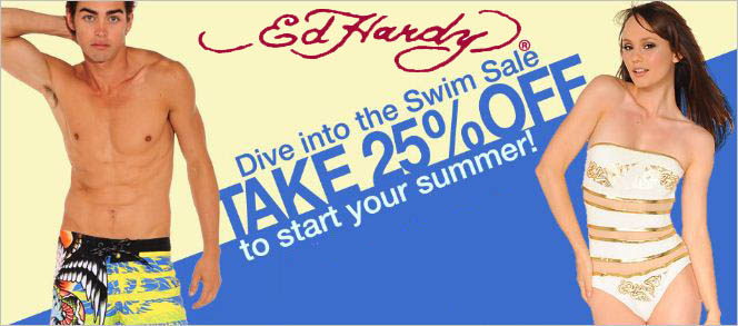 ed hardy swim sale