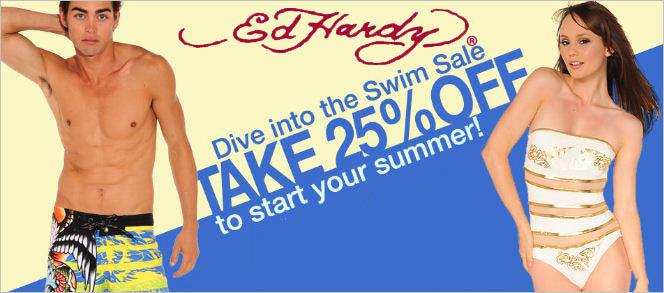 ed hardy swim sale