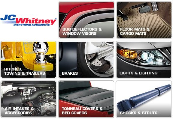 JC Whitney Coupons: $15 off $100, $50 off $200 or more orders