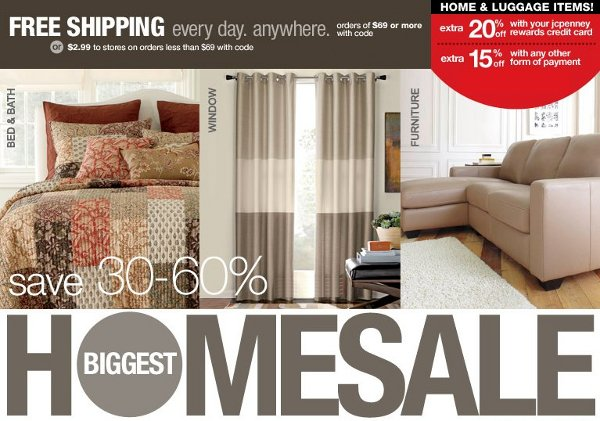 jcpenney biggest home sale