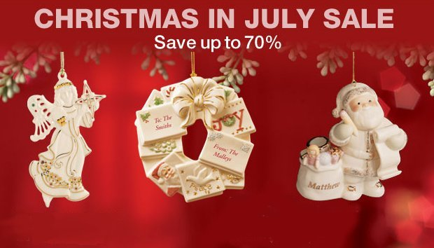 lenox christmas in july sale