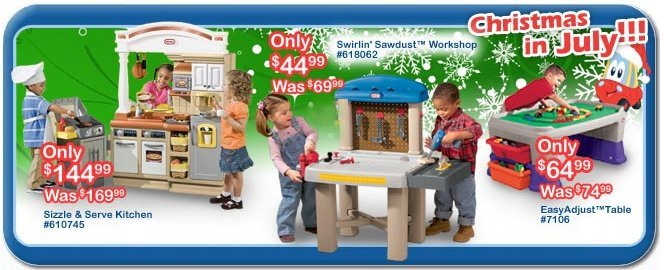 little tikes christmas in july sale