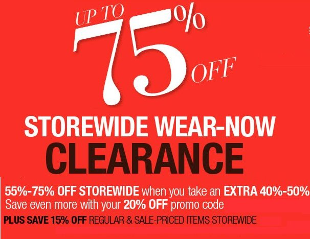 lord & taylor storewide clearance event