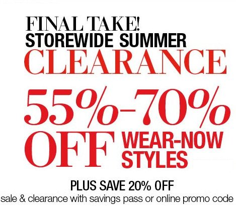 lord & taylor summer clearance