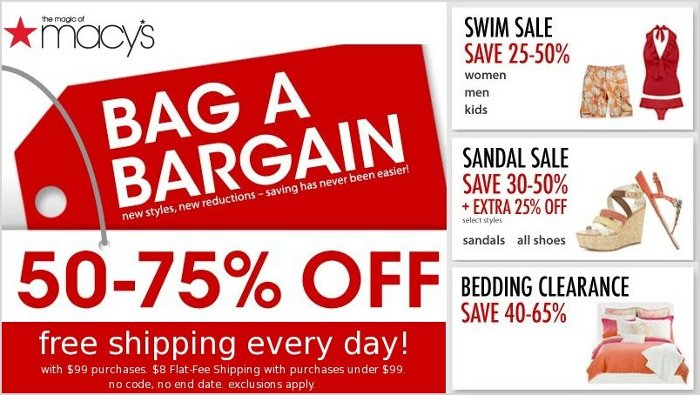 macys bag a bargain sale