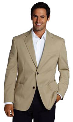 mens performance chino blazer
