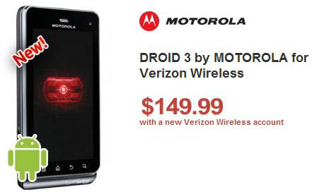 motorola droid 3 at wirefly