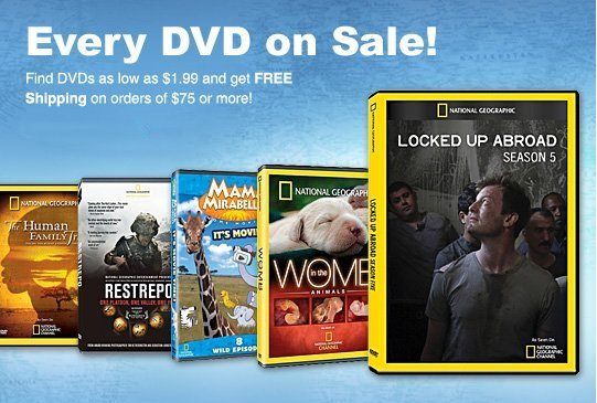 national geographic dvd sale