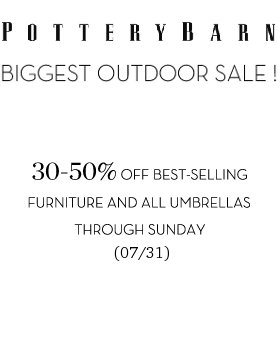pottery barn outdoor sale