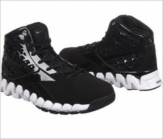 reebok black and white mens zig slash