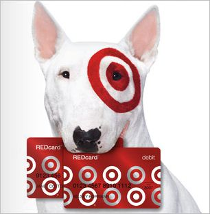 target dog with target red card