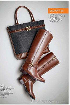 tory burch handbag and leather riding boots