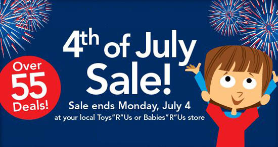 toys r us july 4th sale