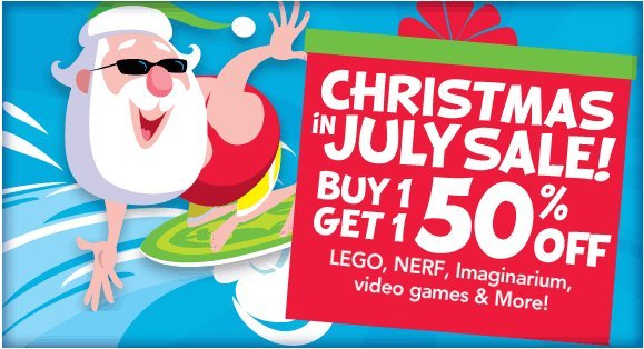 Check out BOGO offers active under Toys R Us Christmas in July Sale: