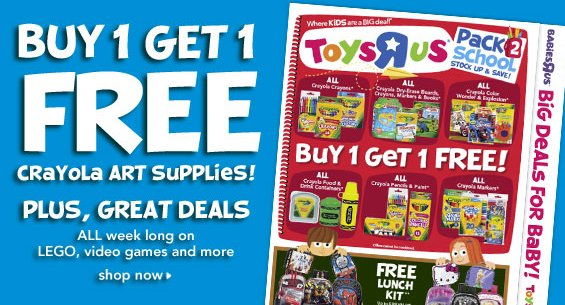 toysrus crayola supplies