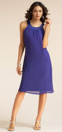 u-neck trapeze dress