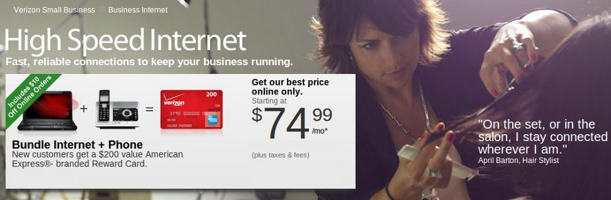 verizon high speed internet bundle