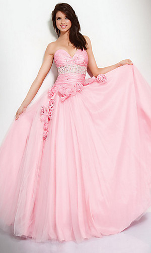 Strapless Jovani Prom Dress